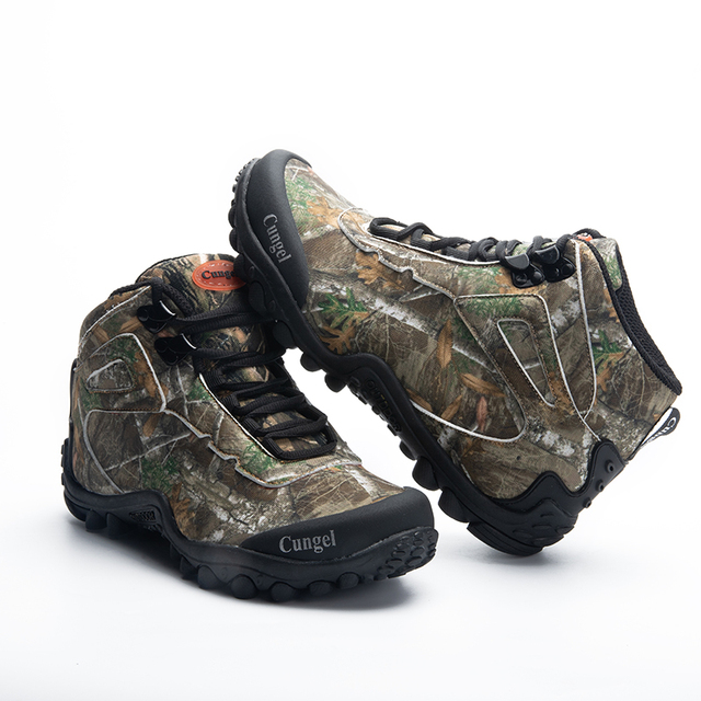 NEW Camo Tactical Boots Men Waterproof Military Tactical Boots Outdoor Combat Shoes Trekking Sneakers Man Hiking Hunting Boots 3
