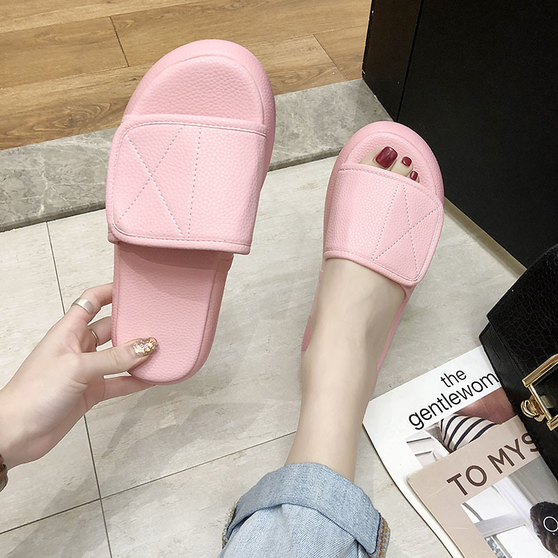 Slippers Women Summer Light Open Toe Anti Slip Flat Slides Fashion Casual Shoes Solid Color Ladies Indoor Home Outdoor Slippers