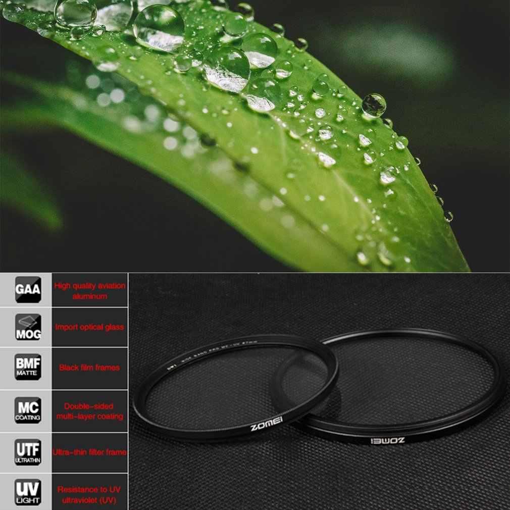 Zomei MCUV filtr kamery ochrona obiektywu filtr do aparatów canon Nikon lustrzanka cyfrowa 49mm 52mm 55mm 58mm 62mm 67mm 72mm 77mm 82mm
