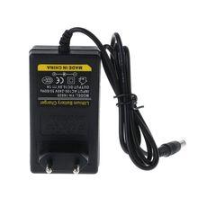 Battery Charger 16.8V DC AC 1A Intelligent Lithium Li on Power Adapter EU US Plug