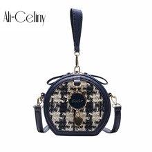 Брендовая Оригинальная дизайнерская ручная маленькая круглая сумка женская сумка Новая модная повседневная сумка контрастная сумка через плечо