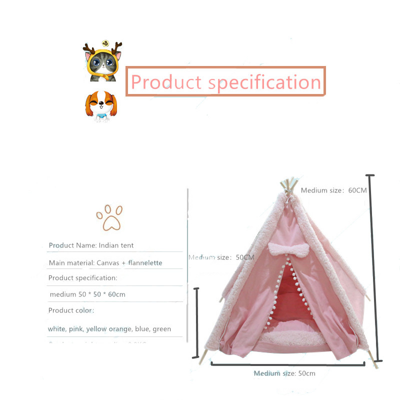 dog teepee bed size