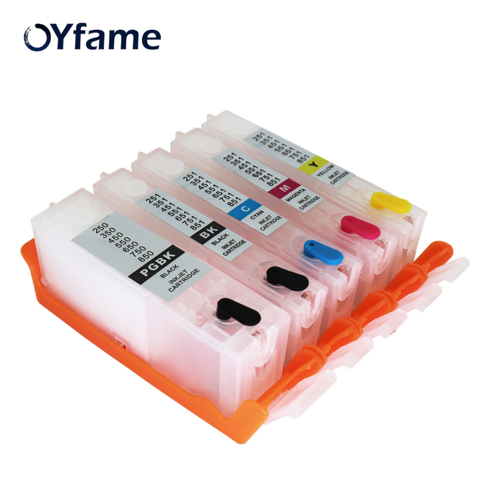 OYfame PGI-550 CLI-551Cartridge с чипом ARC для чернильных картриджей PGI550 для принтера Canon PIXMA IP7250 IX6850 MG5450 MG5650