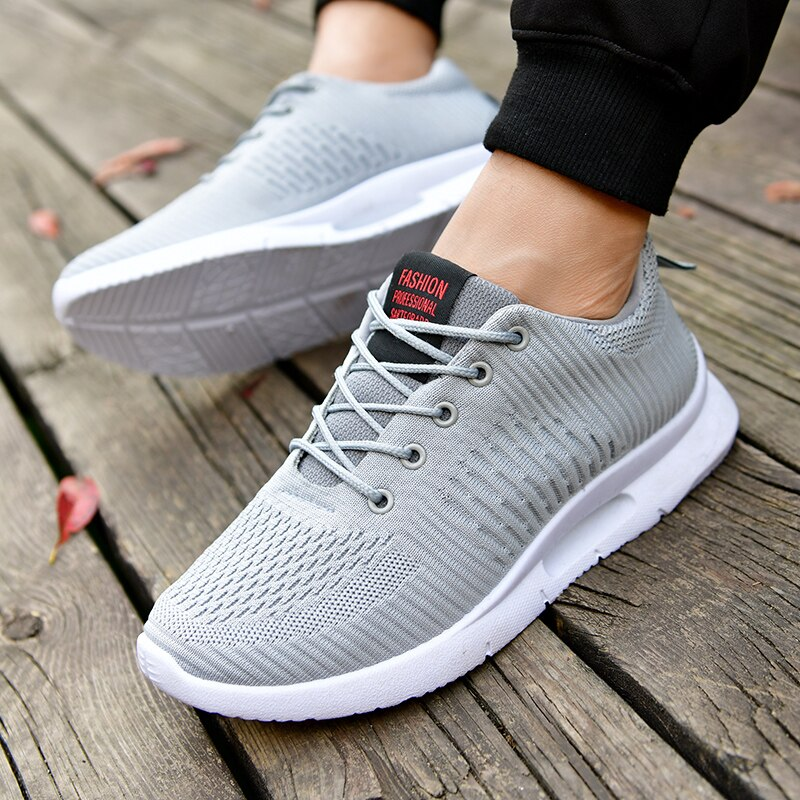 New Men Breathable Athletic Trainers Men Basket Sneakers Men Running Shoes Outdoor Sports Shoes Walking Hombre Footwear 2020