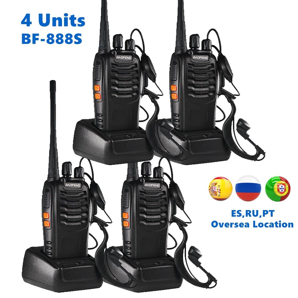4 Units Baofeng Two Way Radio BF 888S 6km Walkie Talkie Portable CB Ham Radio Handheld HF Transceiver Wireless Intercom BF888S