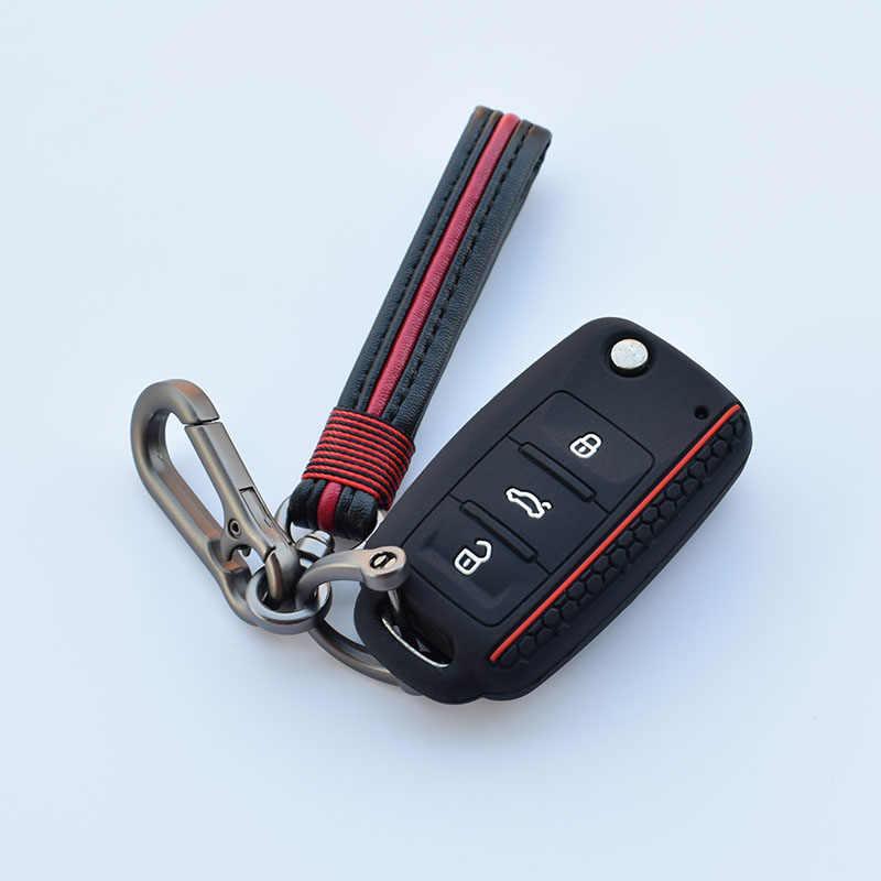 רכב מפתח להגן על מעטפת עבור פולקסווגן פולו פאסאט b5 גולף 4 5 6 MK5 MK6 Eos בורה חיפושית TSI חדש עיצוב סיליקון כיסוי מקרה