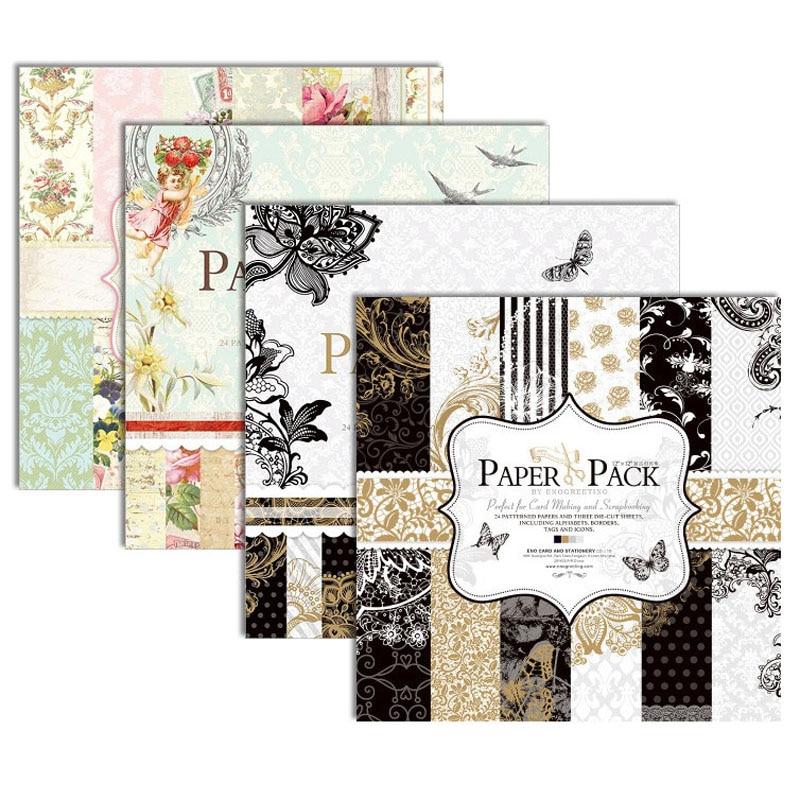 12 x 12 Scrapbook Paper Card Craft Card Stock Cardmaking Metallic Gloss Floral