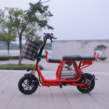 New 12-inch folding electric bicycle with pet basket electric bike battery detachable travel ebike Adult 2-wheel battery scooter