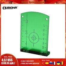 Nenhuma placa ou placa magnética conveniente do alvo do laser da rebarba para linhas vermelhas do laser ou linhas verdes do laser