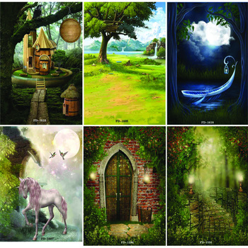 Vinyl Custom Photography Backdrops Prop fairy tale Theme Background  NY1FD-06