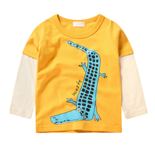 Children Blouse Toddler Baby T Shirt Print Casual Girl Boy Unisex Clothes Long Sleeve Round Neck Cartoon Printed Tops cartoon tattoo man print round neck long sleeve t shirt