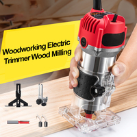 1000W 35000rpm Woodworking Electric Trimmer Wood Milling Engraving Slotting Trimming Machine Hand Carving Machine Wood Router