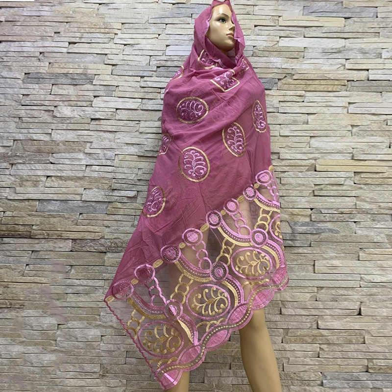 Hot Penjualan Wanita Afrika Kapas Syal Katun Splicing Net Syal Lembut Jilbab Wanita Jilbab Syal Penjualan BM817