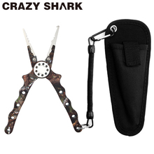 CrazyShark 19cm Aluminum Fishing Pliers Tungsten Cutter for Braid Line Remove Hook Split Ring Meisai Carp fish Goods For Fishing camouflage fishing tools set aluminum fish grip gripper fishing pliers for remove hooks line cutters split ring pincers nippers