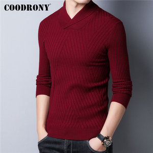 Image 2 - COODRONY סוודר גברים סתיו חורף עבה חם צמר סוודר גברים Streetwear אופנה Slim Fit גולף סריגי למשוך Homme 91097