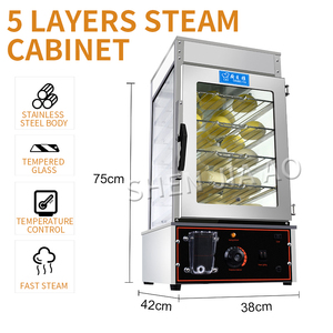 FD-500 commercial electric steaming cabinet full automatic insulation steamed bread snack steamer electric steamer desktop steam