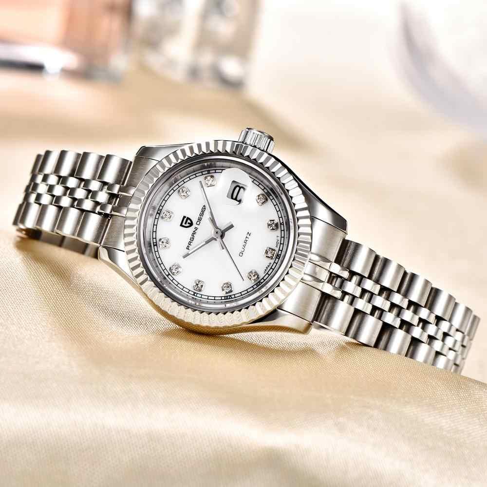 2020 PAGANI עיצוב למעלה יוקרה נשים שעונים לבן חיוג קוורץ גבירותיי שמלה שעון עמיד למים פלדת אופנה שעון Relogio Feminino