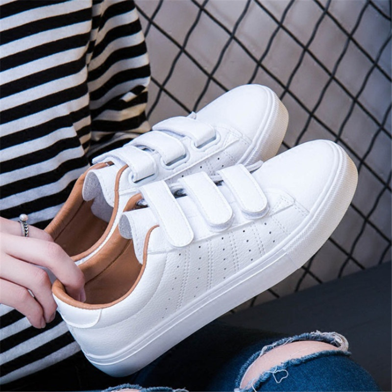 Shoes Woman Tennis Running Shoes Women Spring Autumn Flats Breathable Lace-Up Genuine Leather White Sneakers Women Basket Femme