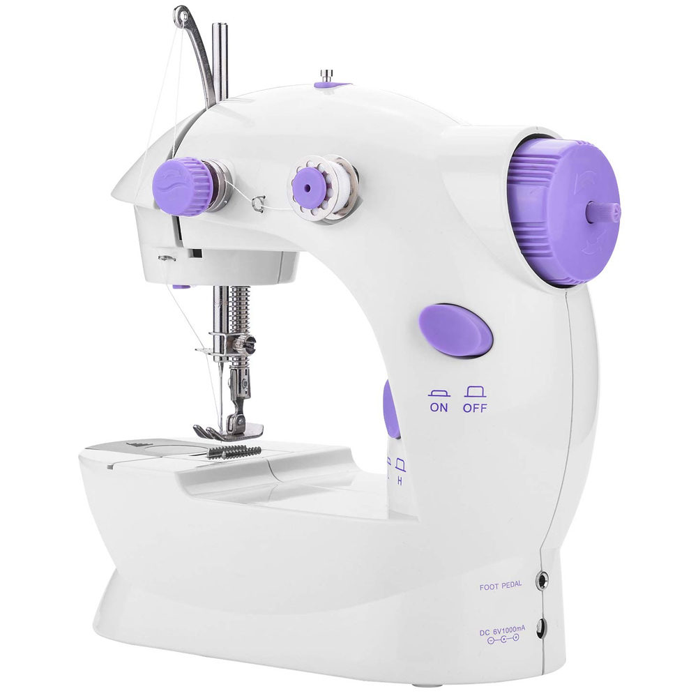 Portable Mini Sewing Machine Crafting Mending Machine with Light for Household KSI999