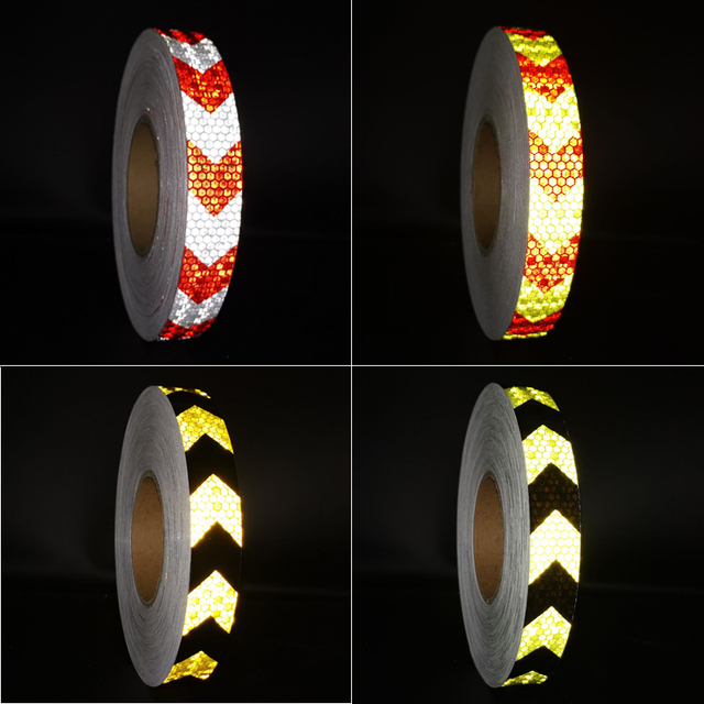 PET width25mm Car Decoration Safety Mark Motorcycle Reflective Tape Stickers Car Styling For Automobiles Safe Material 1