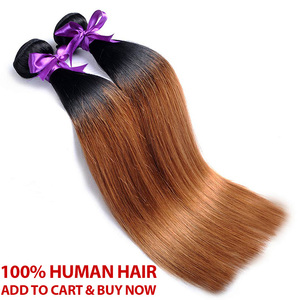 Image 5 - Honey Blonde Bundles With Closure Peruvian Straight Hair Ombre 3 Bundles With Closure 1B 30 Human Hair Weave Pinshair Remy Hair
