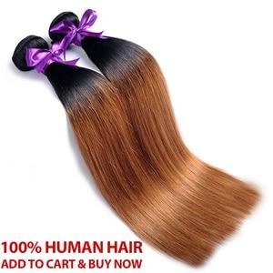 Image 5 - Mel loira pacotes com fechamento peruano cabelo reto ombre 3 pacotes com fecho 1b 30 cabelo humano tecer pinshair remy cabelo