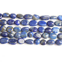 Linxiang 6x8 8x10mm Natural irregular Lapis lazuli loose beads, used for jewelry DIY Stone Bracelet Necklace