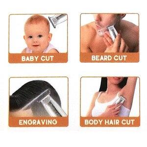 Image 3 - Kemei 1318 bebê clipper de cabelo infantil mini aparador de cabelo elétrico silencioso usb recarregável barbeador crianças corte barba navalha para homens