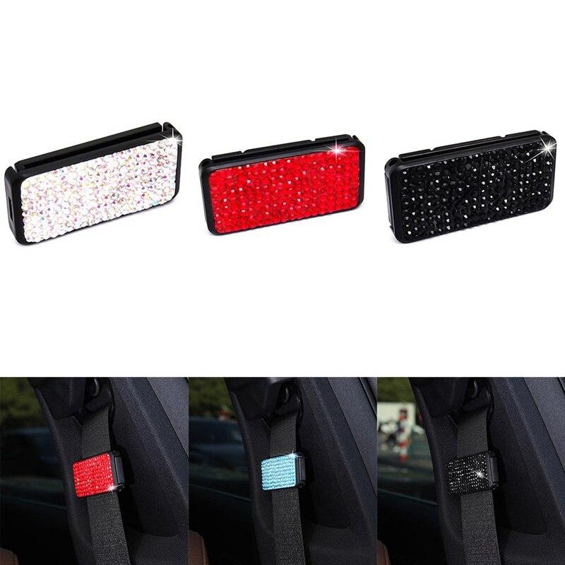 Универсальный автомобильный Зажим для ремня безопасности, регулируемые ремни безопасности, держатель, фиксатор, пряжка, зажим, стразы