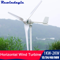 1000w 1500w 2000w Wind Power Turbine Generator 12v 24v 48v 96v With Controller Inverter Free Energy For Homeuse High Efficiency