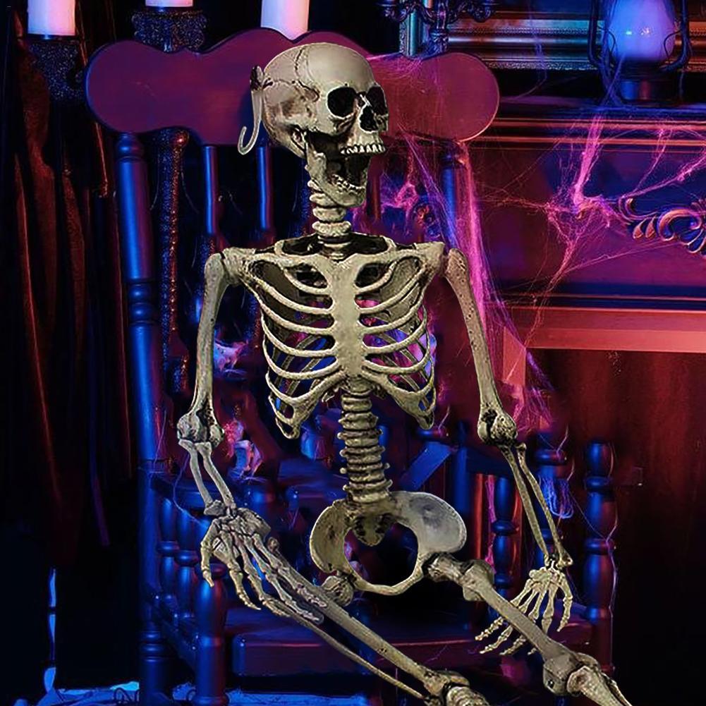 90 CENTÍMETROS Halloween Casa Assombrada Adereços Esqueleto Seco Corpo Esqueleto Criança Quarto Secreto Osso Cabeça Decoração