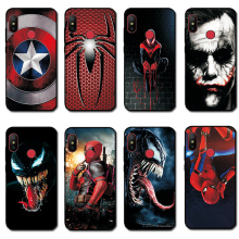 For Xiaomi Mi 8 Case Mi9 SE Black TPU Spiderman 9T Pro Back Cover CC9E A1 A2 A3 Lite