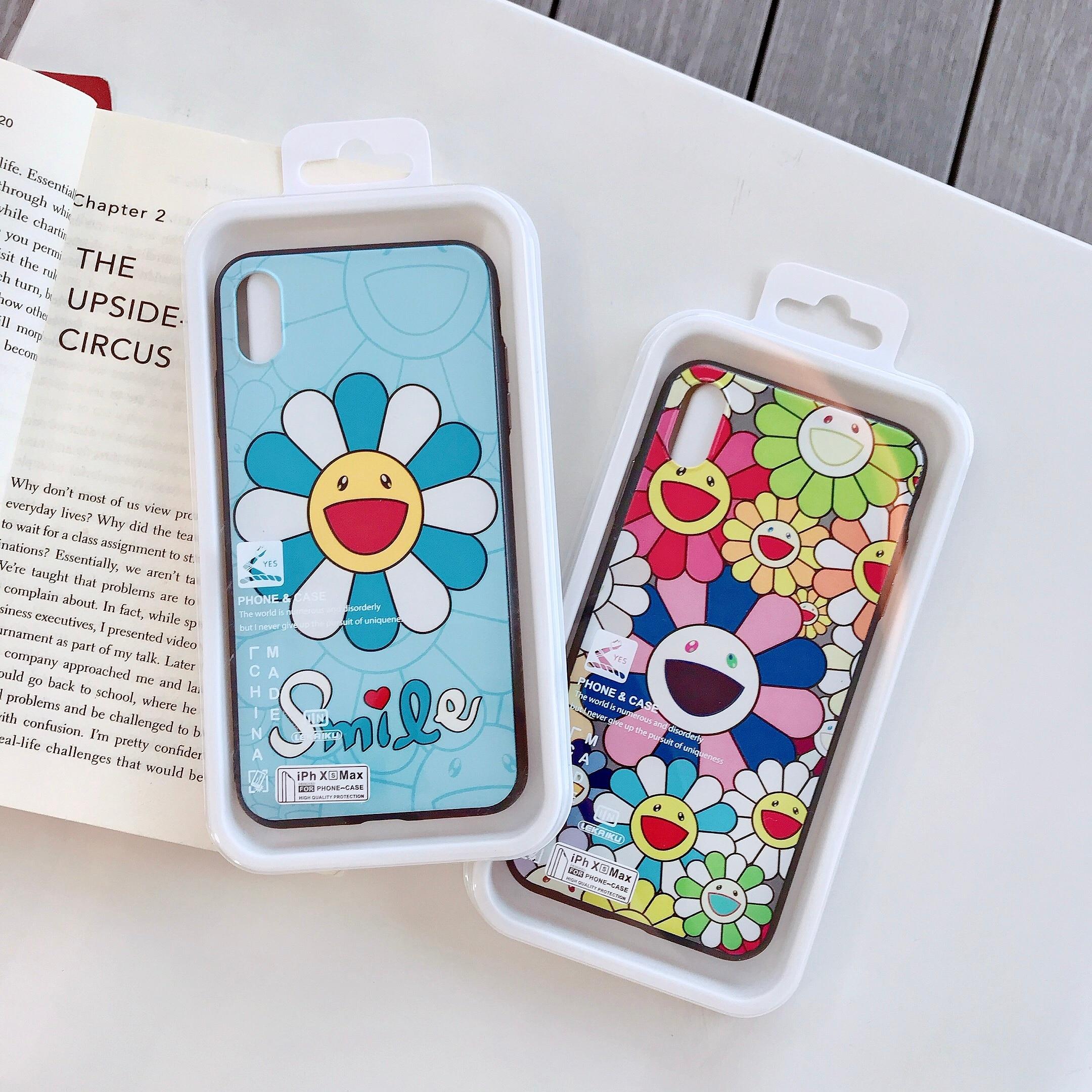 Cartoon Sunflower Cute Phone Case for iPhone 6 6s 7 8 Plus X XS XR XSMax Soft TPU Cover