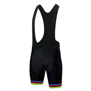 2020 corte láser Arco Iris ciclismo pantalones cortos hombres bretele ciclismo masculino...