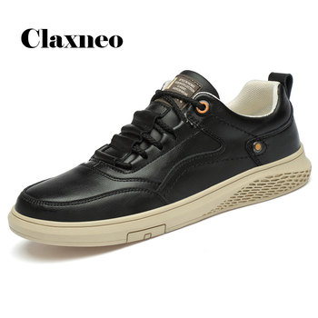 CLAXNEO Man Leather Shoes Fashion Casual Shoe Male Spring Autumn Sneakers clax Men's Walking Footwear White Shoe clax mens shoes leather 2019 spring summer male casual shoe fashion man s sneakers leisure walking footwear