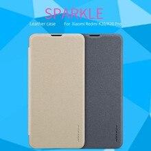For Xiaomi mi 9 t/9t pro 케이스 용 nillkin sparkle 플립 커버 For xiaomi redmi k20/k20 pro 폰 케이스 용 pu 가죽 케이스