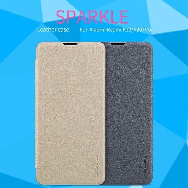 For xiaomi mi 9T/9T Pro Case  NILLKIN Sparkle flip cover PU leather case for Xiaomi Redmi K20/K20 Pro Phone Case