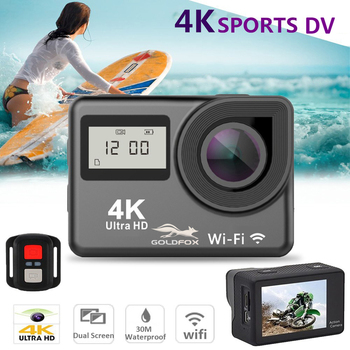 цена на Full Touch Screen Ultra HD 4K Action Camera 1080P 170D Wifi Remote Control Go Waterproof Pro cam For Cycling Diving Sport Camera