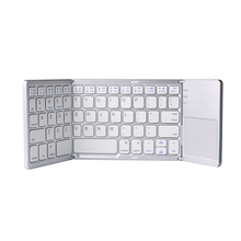 Three System Universal Three-Fold With Touchpad Tablet Mobile Computer Wireless Bluetooth Folding Mini Keyboard