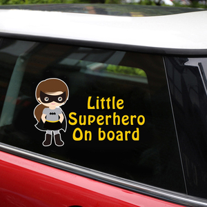Image 5 - 反射スーパーヒーローでボードステッカー車のステッカーとデカールカースタイリング本体ウィンドウビニールステッカー車の壁のステッカー