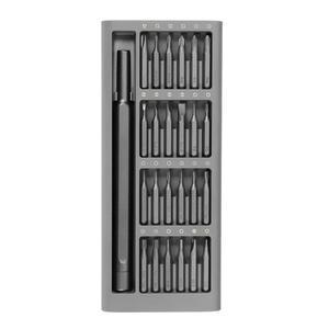 Image 2 - Оригинальный комплект отверток Xiaomi Mijia 24 в 1 магнитные ремонтные инструменты алюминиевая коробка комплект отверток Mijia