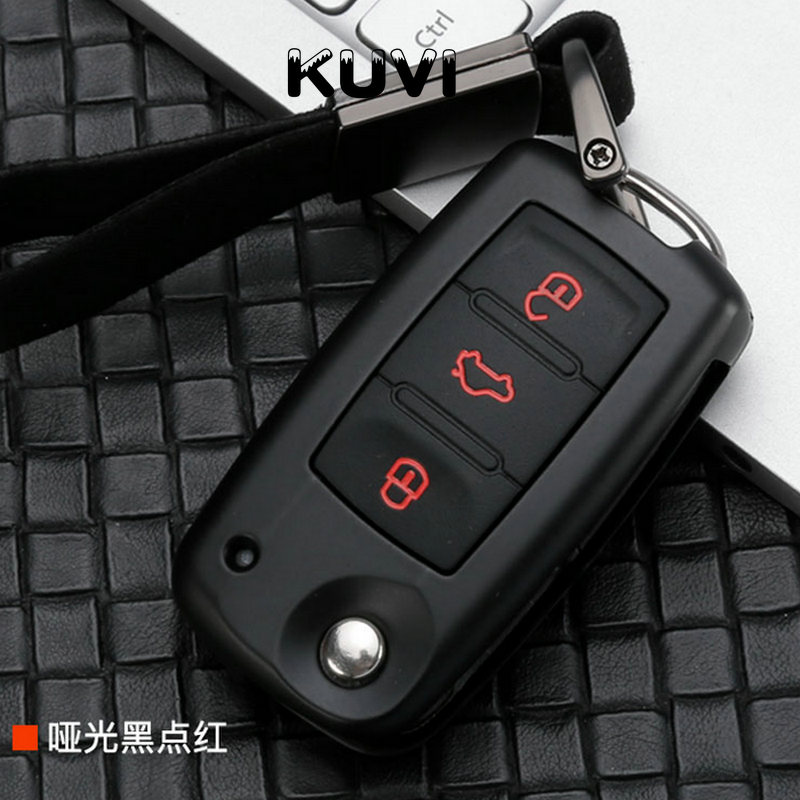 Alloy Car Key Case Cover For VW Golf Bora Jetta POLO GOLF Passat B8 Skoda Octavia A5 A7 Fabia SEAT Ibiza Leon Car Protection title=
