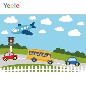 Image 5 - Yeele Transportation Bus Car Airplane Ship Birthday Photography Backgrounds Customized Photographic Backdrops for Photo Studio