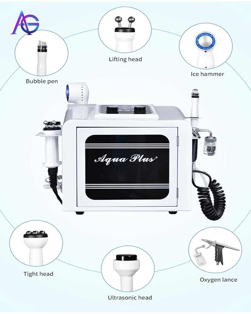 Professional 6 In 1 Aqua Plus Facial Cleaning Care Blackhead Removal Beauty Equipment From China
