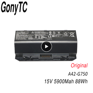 GONYTC A42-G750 Original New laptop battery FOR ASUS ROG G750 Series G750J G750JH G750JM G750JS G750JW G750JX G750JZ CFX70
