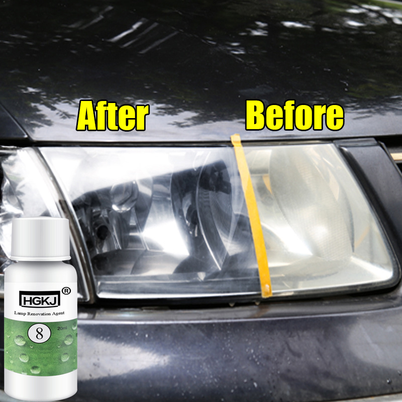 1pc 20ml HGKJ Polishing Headlight Agent Bright White Headlight Repair Lamp Cleaning Window Glass Cleaner Auto Car Accessories