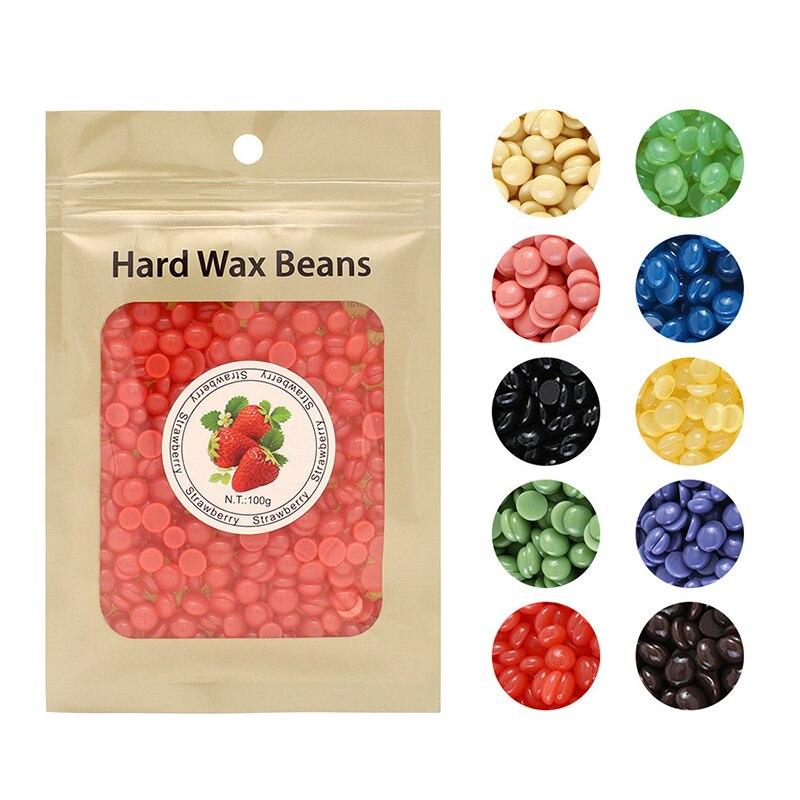 25g Depilatory Wax Beans All Types Skin Beauty Hot Film Hard Wax Pellet Removal Bikini Face Legs Arm No Strip Cream Wax Beans