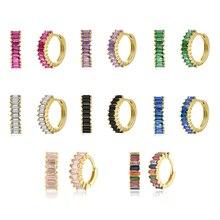 BOAKO Huggie Earrings S925 Sterling Silver Hoop Earring For Women Fashion Loop Earring Jewelry Zircon Pendientes Brincos Aretes