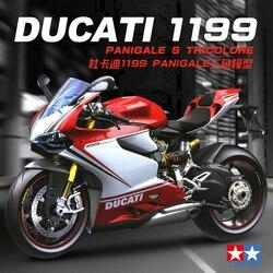 Tamiya-Kit de présentation de moto, ensemble de montage en plastique, 14132, 1/12, échelle Ducati 1199 Panigale S Tricolore, jouet à collectionner