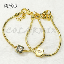 10pcs Cubic beads bracelets dice chain bracelets zircon charm accessories bangles bracelets jewel for women 56273